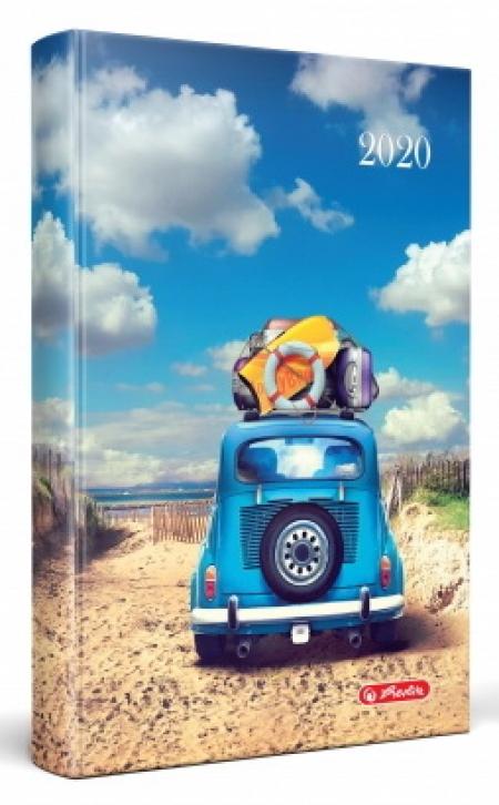 AGENDA DATATA RO A5, 352 PAGINI + 16 PAGINI ZENTANGLE, COPERTA BURETATA, MOTIV SUMMER, 2020
