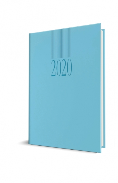 AGENDA DATATA TUCSON RO A5, 352 PAGINI, COPERTA BURETATA, CULOARE AQUA, 2020