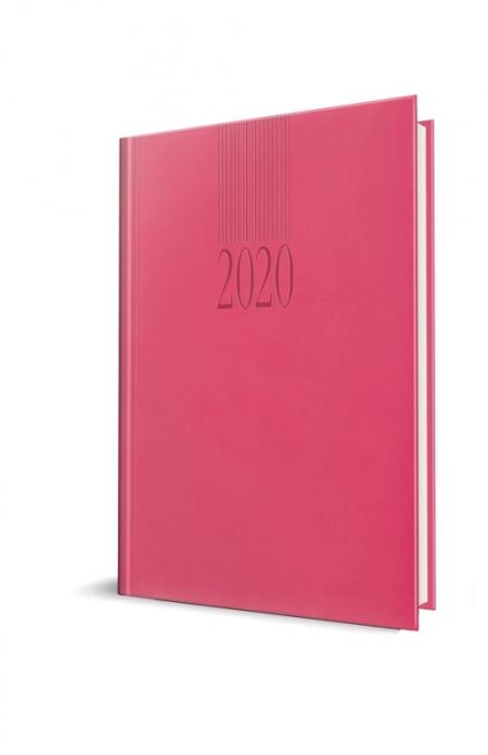 AGENDA DATATA TUCSON RO A5, 352 PAGINI, COPERTA BURETATA, CULOARE FUCHSIA, 2020