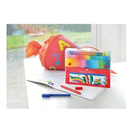 Carioci cu clip 80 culori Connector FABER-CASTELL