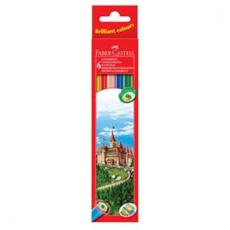 Creioane Colorate 6 Culori Eco Faber Castell
