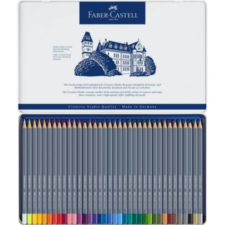 Creioane colorate FABER-CASTELL Goldfaber Aqua, 36 culori/set