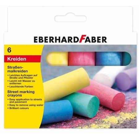 Creta 6 culori desen asfalt forma rotunda Eberhard Faber