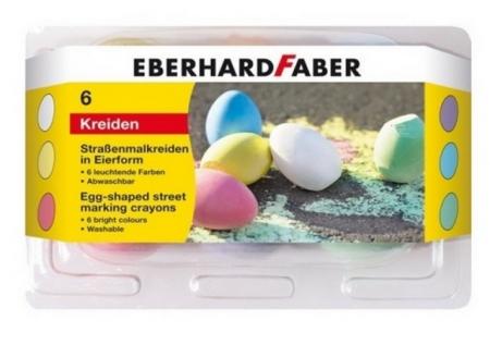 Creta 6 culori desen asfalt forma ou Eberhard Faber