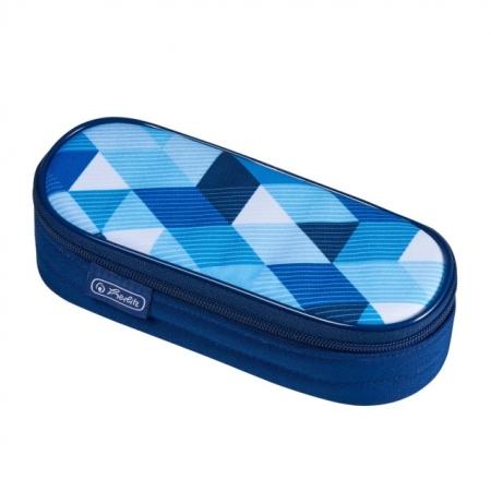 NECESSAIRE OVAL MOTIV BLUE CUBES