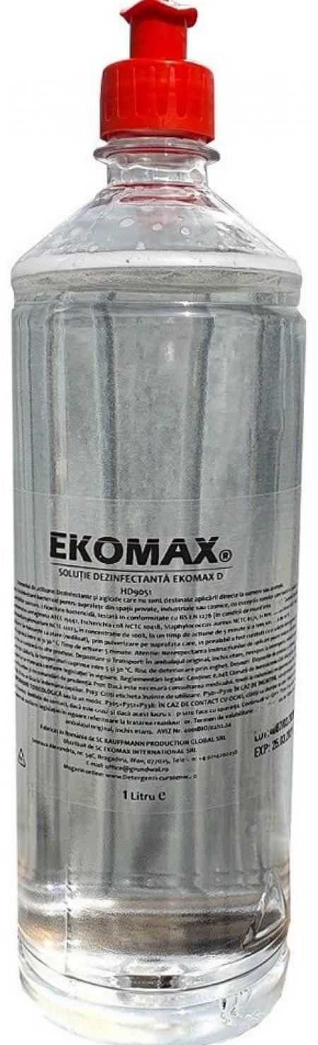 Solutie Dezinfectanta Profesionala Ekomax 1L cu Pulverizator