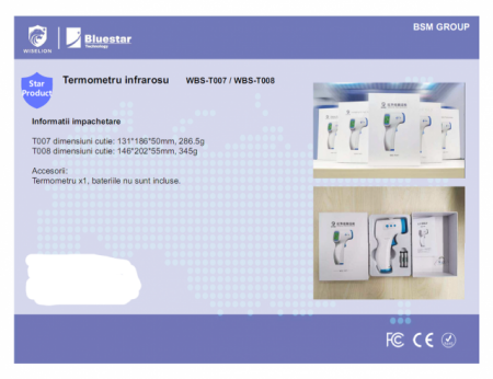 Termometru non contact cu infrarosu