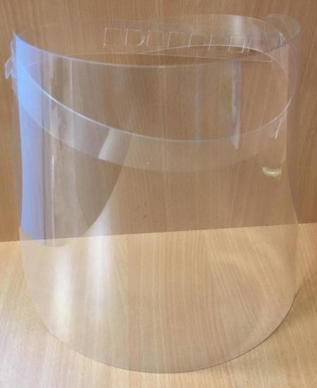 Viziera transparenta PET G Ergonomica Protectoare, Reglabila, Reutilizabila, Frontala