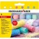 Creta 6 culori glitter desen asfalt forma rotunda Eberhard Faber